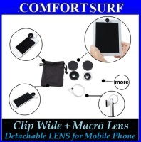 Detachable Clip Wide & Macro Lens for Mobile Phone-iphone ipad samsung