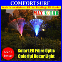 2 Pcs Solar Powered LED Lamp 7 Colors Changing Fiber Optic Garden Landscape Decoration Light Bulb