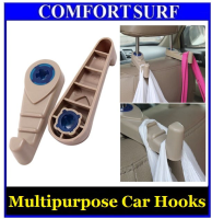 2pcs Multipurpose Car Hooks Hold Grocery Bags Vehicle Seat Back Compartment