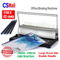 OB012 Office / School / Home Document Comb Steel Binder Binding Machine + Free 4x Gift