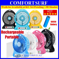 Strong Portable Multifunctional Rechargeable Fan With FREE 18650 Rechargeable Battery