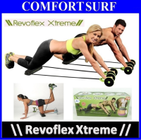 Revoflex Xtreme Workout Kit Trainer Wheeled Fitness Resistance Exerciser Rope