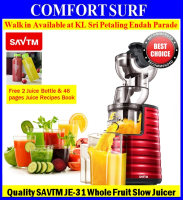 SAVTM JE-31 Whole Slow Juicer 100% Fresh Fruit Juice Extraction Blender Maker * FREE Gifts