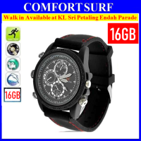 16GB HD Waterproof Spy Watch Camera Video camcorder (black)