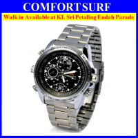 4GB HD Waterproof Spy Watch Camera Video camcorder (silver)