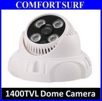 "1400TVL SecurEyes CCTV Dome Camera 1/4"" IR Infrared Color 4PC Taiwan Array LAMP"