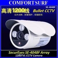 SecurEyes 1/4' CMOS HD CCD 1200TVL CCTV Dome Color Camera 3pcs Array IR