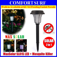 2 in 1 Solar Powered UV LED Light Lamp + Mosquito Killer For Garden Lawn Mosquitoes Insect Pest Repeller Killer