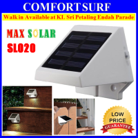 MaxSolar SL020 4x LED Solar Powered Stairs Pathway Fence Garden Security Lamp Outdoor Light