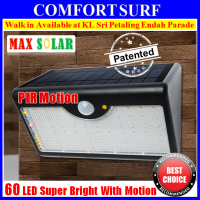 New MaxSolar SL026 Motion Sensor Light 60 LED 5 Modes Wall Signage Street Lamp Auto On Light