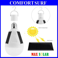 MaxSolar E27 12W 26LED Solar Light Bulb Portable Outdoor Camping Emergency Lighting Lamp