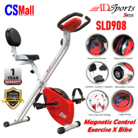 ADSports SLD908 Magnetic X Bike Cardiovascular Workout Home Gym Fitness Exercise Bike