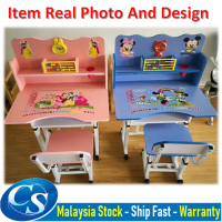 Meja Belajar Kanak Kanak / Budak / Kids Cartoon Study Table with Adjustable Height