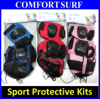 Sport Scooter Kids Protective Safety Kits - 6pcs Set (Wrist / Gauntlets / Knee)