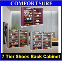 Quality 7 Tier 12 Columns Shoe Shoes Rack Cabinet Wardrobe Organizer