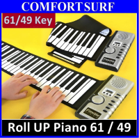 Roll Up Piano Flexible Portable Electronic Soft Piano Keyboard 49 / 61 key