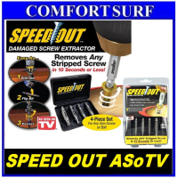 NEW HOT ASoTV Speed Out Damaged Screw Remover Extractor Tool 4 Pc SpeedOut