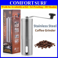 Stainless Steel Manual Coffee Bean Grinder With Ceramic Burr Grinding Mechanism