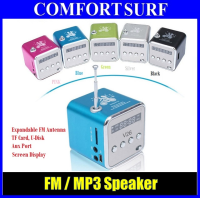 Mini Speaker TD-V26 With Music MP3 Player / FM Radio / Aux In & Display