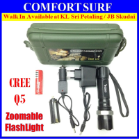 Ultrafire Strong CREE Q5 LED Zoomable Torchlight Flashligh 3 Mode, Direct Charging