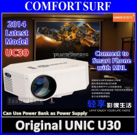 ORIGINAL UNIC UC30 LED Projector 30-100' SD AV HDMI VGA