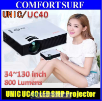 UNIC UC40 LED Projector 800 Lumens with Full HDMI, USB, AV, SD Card