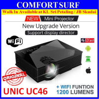 Original UNIC UC46 Mini LED HD Projector Built In WIFI Display Portable Projector + GIFT