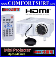 UNIC UC28+ Portable Mini LED Projector 3rd Gen Video Audio VGA HDMI SD USB