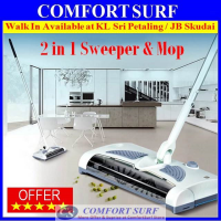 Rechargeable 2-in-1 Cordless Electric Sweeper and Mop Function Auto Sweep Cleaner