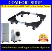 Multifunction Movable Washing Machine base Fridge Stand Holder Refrigerator Trolley