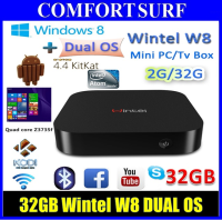 32GB Wintel W8 Intel Atom Z3735F Dual OS Windows 8.1 / Android 4.4 XBMC Kodi TV Box