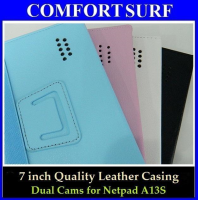 7 inch Quality Leather Casing with Back Camera specially for Netpad A13S