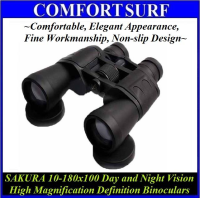 SAKURA 10-180x100 Day and Night Vision High Magnification Binocular