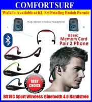 NEW BS19C Sport Wireless Bluetooth 4.0 Handsfree Headset MP3 by Memory