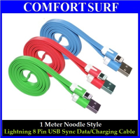 1 Meter Noodle Style Lightning 8 Pin USB Sync Data / Charging Cable for Apple iPhone 5, iPad Mini, iPad 4, iPod Touch 5