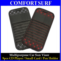 Car Sun Visor 9pcs CD Player Pen Small Cards Holder