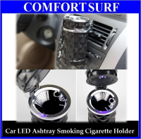 Car LED Portable Ashtray Smoking Cigarette Holder