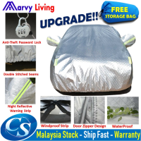 Durable 3 Layers Thick Aluminum Coating Full Car Cover  Waterproof Sun UV Dust Rain Resistant Protection Car Cover