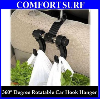 Car Hanger with Double Hooks Hold Grocery Bags & More