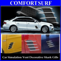 Car Simulation Vent / Decorative Shark Gill Car Side Vents (One Pair)