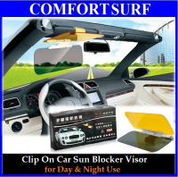 Clip On Anti Dazzle Car Sun Blocker Visor Mirror for Day & Night