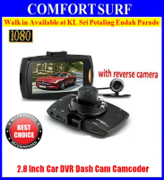 Car DVR Camera Dash Cam Video 2.8 LCD with Reverse Cam Car Cam Recorder
