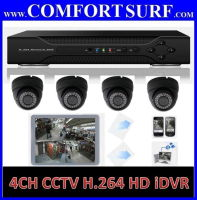 4 Channel CCTV H.264 Full D1 Network HD Video DVR Real Time Monitoring