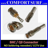 High Quality BNC / Q9 Connector For CCTV Use / Free soldering type