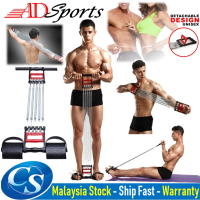 ADSports Chest Muscle Expander With Hand Gripper And Pedal Pull 5 SPRING Body Building CHEST EXPANDER GYM