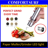 Stainless Steel Battery Operated Pepper Muller Grinder Adjustable Grain