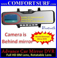 "Car Mirror Rearview Full HD DVR CCTV 2.7"" LCD Screen Camera Camcorder with Build in Bluetooth"
