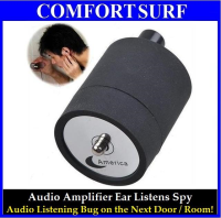 Mini Portable Ear Spy Listen on the Next Door / Room Audio Voice Amplifier Wall Device