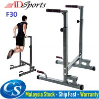 ADSPorts F30 Heavy Duty Adjustable Dip Bar Station Multi-Function Strength Training Workout Station Gym Fitness