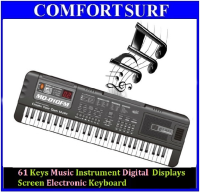 NEW !! 61 Keys Music Instrument Digital  Displays Screen Electronic Keyboard Small Learning Mode With FM Radio